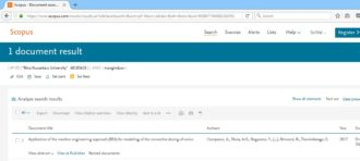 Dave's paper get indexed by Scopus