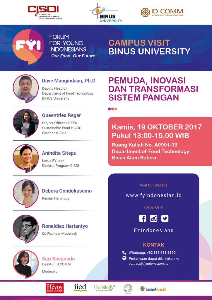 Forum Young Indonesia with Deputy Head of Foodtech