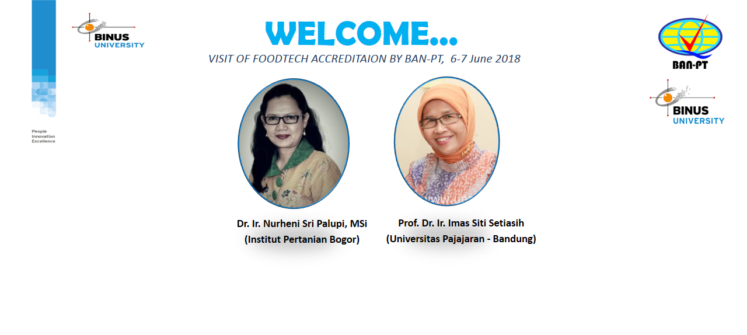 VISIT OF FOODTECH ACCREDITATION BY BAN-PT,  6-7 June 2018