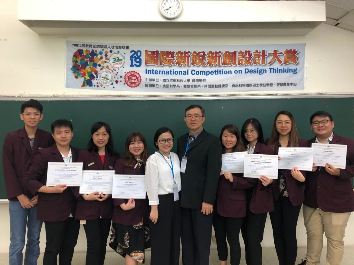 Winner – 2019 International Competition on Design Thinking, NPUST, Taiwan -ROC