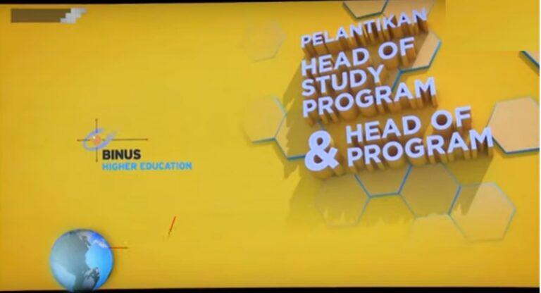 Inauguration of Head of Study Program Food Technology 2019-2022, BINUS University