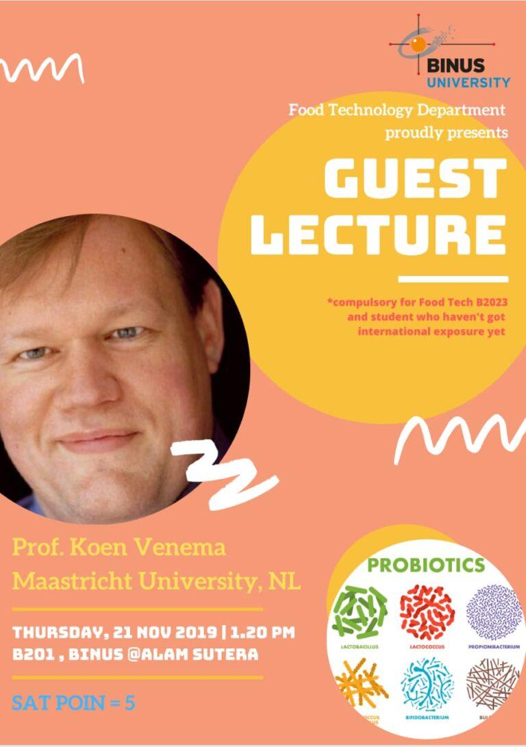 Guest Lecture – Prof. Koen Vennema, Maastricht University