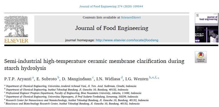 Journal of Food Engineering 274 (2020) 109844